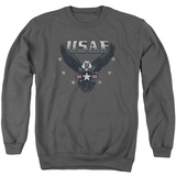 Crewneck Sweatshirt: Air Force- Streaking Eagle Shield T-Shirt