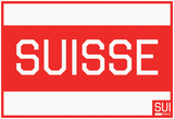 Suisse - Horizontal Red Stripe Fan Sign Posters