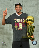 James Jones with the NBA Championship Trophy Game 7 of the 2016 NBA Finals Photo