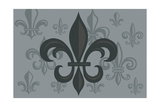 Fleur de Lis - Pattern - Gray Art by  Lantern Press