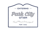 Park City, Utah - Now Entering (Blue) Prints by  Lantern Press