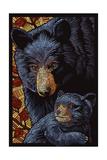 Black Bears - Paper Mosaic Posters par  Lantern Press