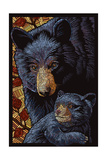 Black Bears - Paper Mosaic Posters by  Lantern Press