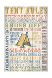 Tent Rules - Barnwood Painting Print by  Lantern Press