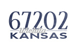 Wichita, Kansas - 67202 Zip Code (Blue) Art by  Lantern Press
