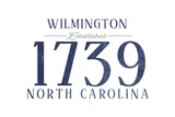 Wilmington, North Carolina - Established Date (Blue) Print by  Lantern Press