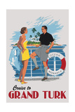 Cruise to Grand Turk Vintage Poster Prints by  Lantern Press