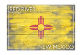 Red River, New Mexico - State Flag - Barnwood Painting Poster by  Lantern Press