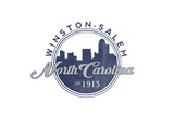 Winston-Salem, North Carolina - Skyline Seal (Blue) Prints by  Lantern Press