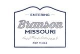 Branson, Missouri - Now Entering (Blue) Prints by  Lantern Press