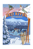 Red River, New Mexico - Winter Scenes Montage Art by  Lantern Press