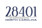 Wilmington, North Carolina - 28401 Zip Code (Blue) Prints by  Lantern Press