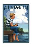 Alabama - Boy Fishing Posters by  Lantern Press