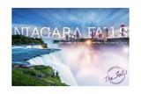 Niagara Falls - Falls and Skyline Print by  Lantern Press