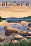 Alabama - Lake Sunrise Scene Prints by  Lantern Press