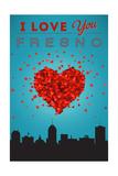 I Love You Fresno, California Print by  Lantern Press