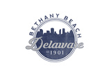 Bethany Beach, Delaware - Skyline Seal (Blue) Poster by  Lantern Press