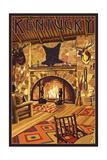 Kentucky - Lodge Interior Prints by  Lantern Press