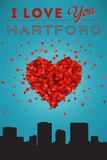 I Love You Hartford, Connecticut Prints by  Lantern Press