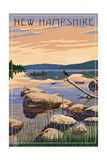 New Hampshire - Lake Sunrise Scene Prints by  Lantern Press