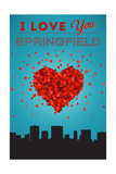I Love You Springfield, Illinois Prints by  Lantern Press