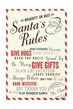 Santas Rules Typography - Plan LBI Vacation Posters by  Lantern Press