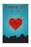 I Love You Reno, Nevada Prints by  Lantern Press