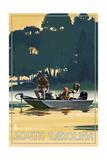 South Carolina - Fishermen in Boat Prints by  Lantern Press