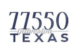 Galveston, Texas - 77550 Zip Code (Blue) Posters by  Lantern Press
