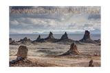 Pinnacles National Park, California - Grey Sky Prints by  Lantern Press