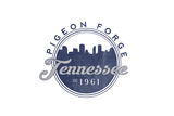 Pigeon Forge, Tennessee - Skyline Seal (Blue) Poster by  Lantern Press