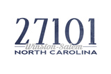 Winston-Salem, North Carolina - 27101 Zip Code (Blue) Prints by  Lantern Press