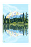 Mount Shuksan (Image Only) Prints by  Lantern Press
