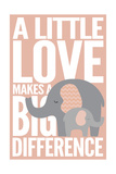 Elephant - Infant Sentiment - Pink Posters by  Lantern Press
