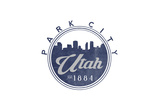 Park City, Utah - Skyline Seal (Blue) Posters by  Lantern Press