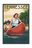 Tennessee - Canoers on Lake Posters by  Lantern Press