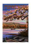 Minnesota - Lake Sunset Scene Posters by  Lantern Press