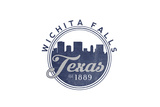 Wichita Falls, Texas - Skyline Seal (Blue) Prints by  Lantern Press