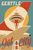 Seattle, Washington - Jet City Posters by  Lantern Press