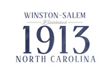 Winston-Salem, North Carolina - Established Date (Blue) Posters by  Lantern Press