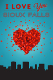 I Love You Sioux Falls, South Dakota Posters by  Lantern Press
