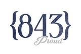 Hilton Head, South Carolina - 843 Area Code (Blue) Posters by  Lantern Press