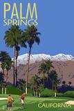 Palm Springs, California - Golfing Scene Prints by  Lantern Press