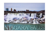 Niagara Falls - American Falls in Winter Prints by  Lantern Press
