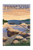 Minnesota - Lake Sunrise Scene Art by  Lantern Press
