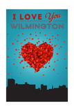 I Love You Wilmington, North Carolina Prints by  Lantern Press