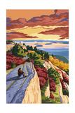 Rocky Hillside Viewpoint Prints by  Lantern Press