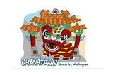 Seattle, Washington - Chinatown - Cartoon Icon Posters by  Lantern Press