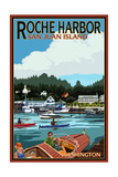 Roche Harbor, Washington - Harbor Scene Prints by  Lantern Press