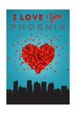I Love You Phoenix, Arizona Poster by  Lantern Press